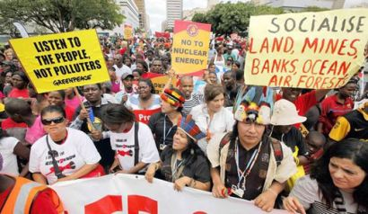 protestors demand a greener future in durban this weekend