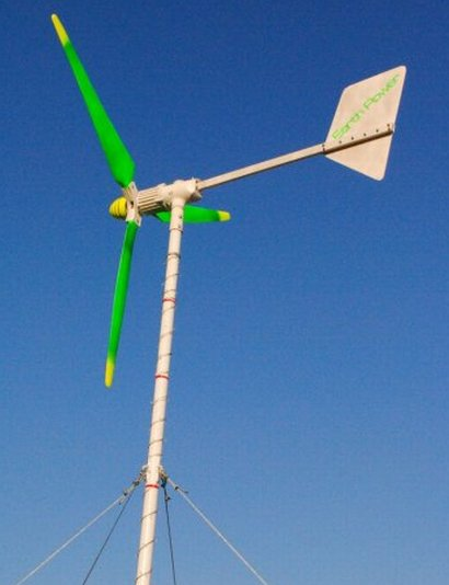 You could charge your cell-phone using power from the Wind Turbine