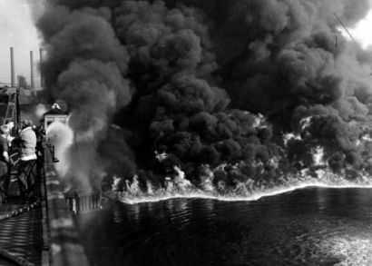 Cuyahoga River: Regularly caught alight due to pollution