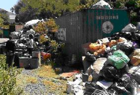 Footprints recycling centre overloaded
