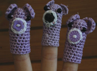 Forget me Knot: Plastic puppets