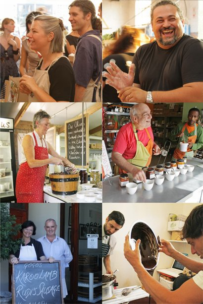 Local artisans and food producers