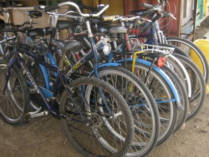 Bikes from one of BEN's BIC's (bicycle empowerment centres)
