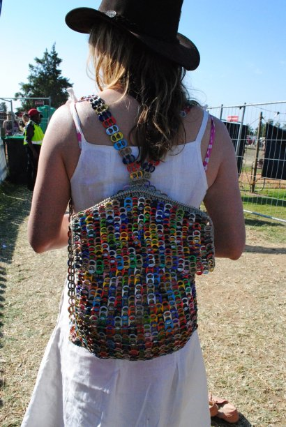A punter rocks a can-top backpack