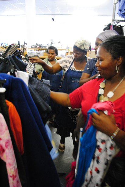 The ladies are allowed a certain amount of credit each month to keep distribution of stock fair