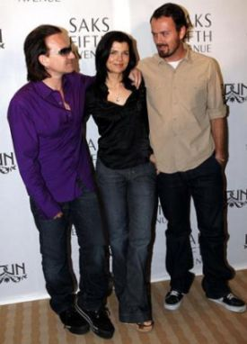 Bono, his wife, & designer Rogan Gregory